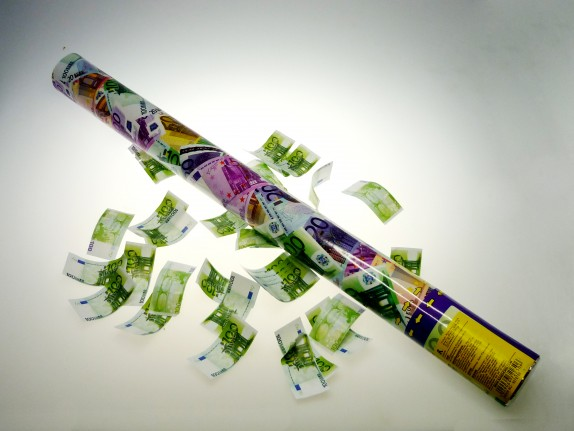 Confetti shooter money groot 60cm