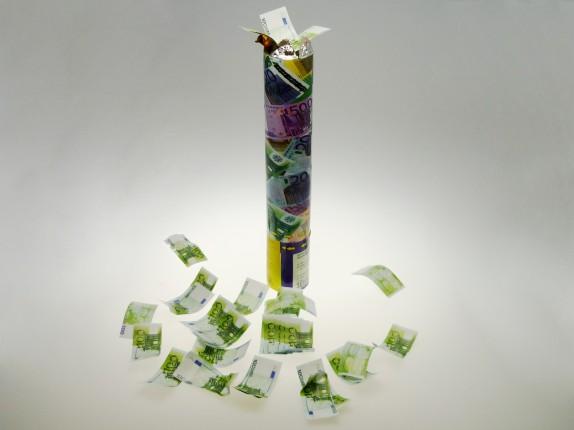 Confetti shooter money klein 30cm