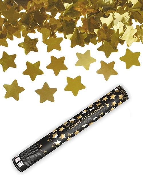 Confetti shooter sterren goud
