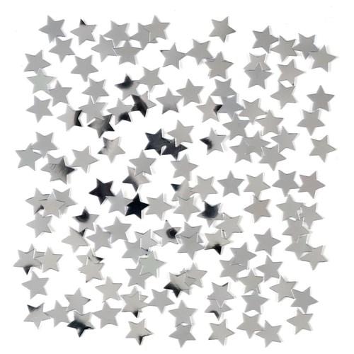 Confetti sterretjes zilver