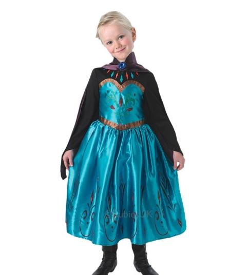 Coronation Elsa jurkje Frozen - Large 7-8 jaar