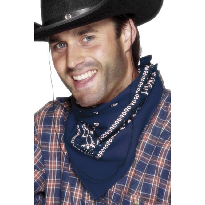 Cowboy bandana blauw