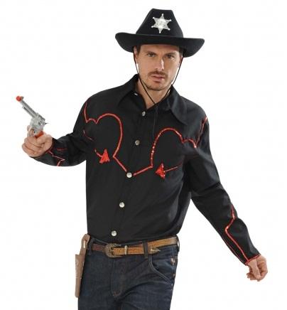 Cowboy blouse pailletten XL