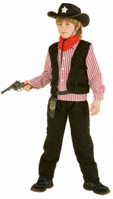 Cowboy pakje Lucky zwart - 140