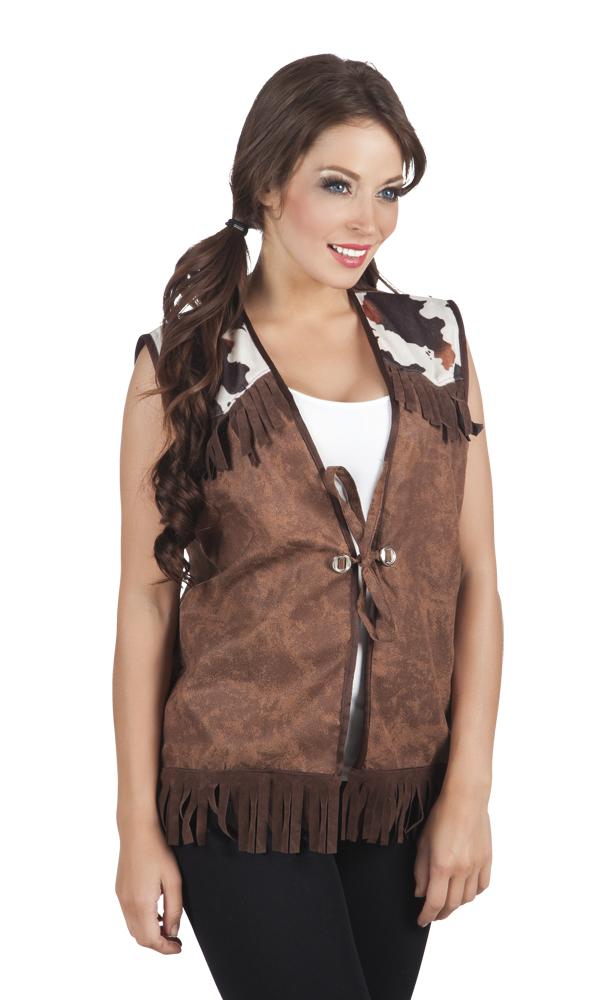 Cowboy vest bruin dames