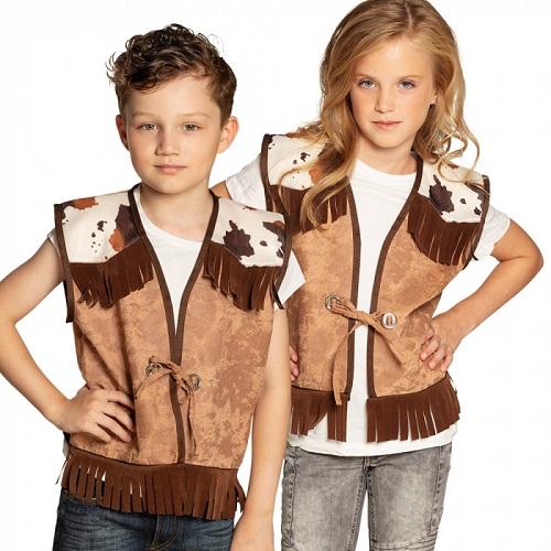 Cowboy vest Western kind 10-12 jaar