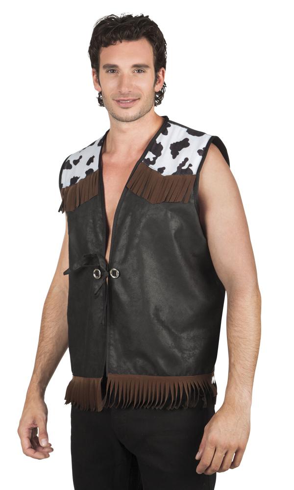 Cowboy vest zwart heren