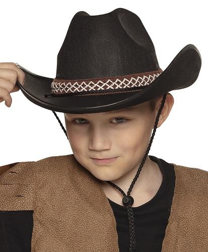 Cowboyhoed junior zwart