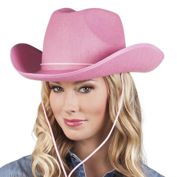 Cowboyhoed rodeo roze