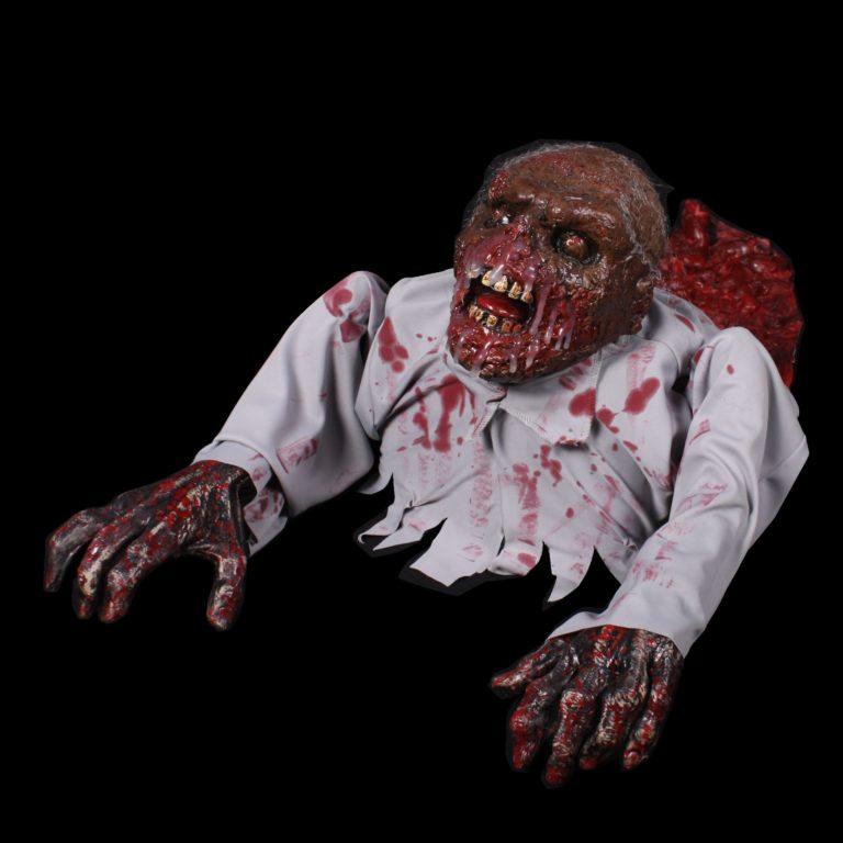Crawling zombie met geluid en beweging