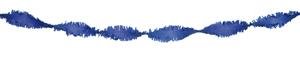 Crepe slinger blauw 6 meter