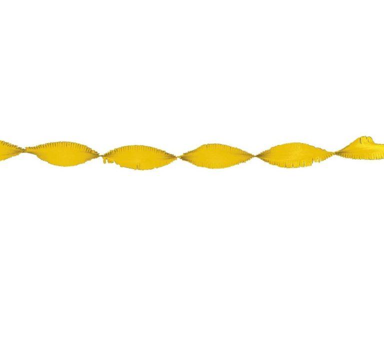 Crepe slinger geel 6 meter