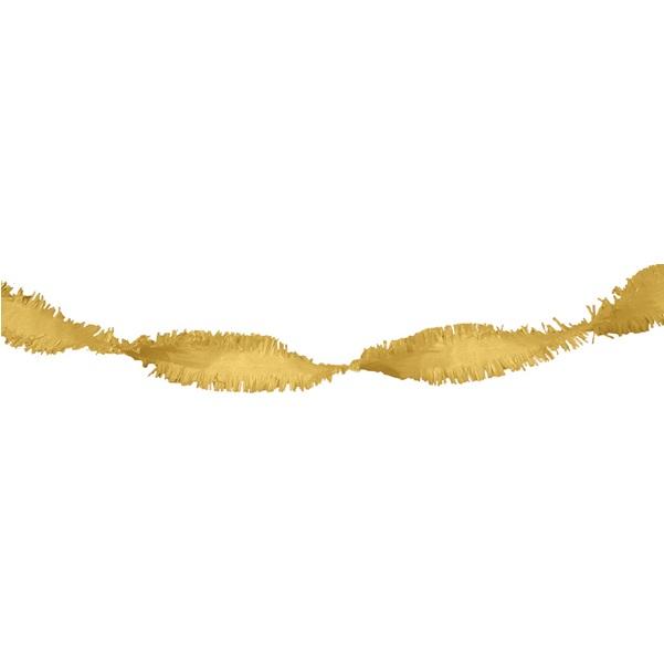 Crepe slinger goud 24 meter