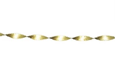Crepe slinger goud 6 meter