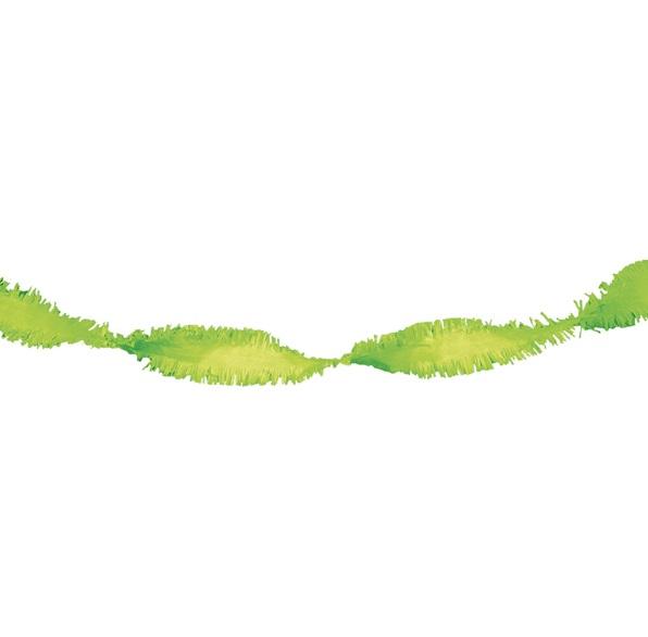 Crepe slinger limoen groen 24 meter