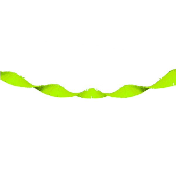 Crepe slinger neon groen 18 meter
