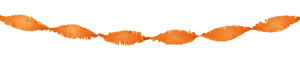 Crepe slinger oranje 6 meter