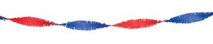 Crepe slinger rood/wit/blauw 6 meter