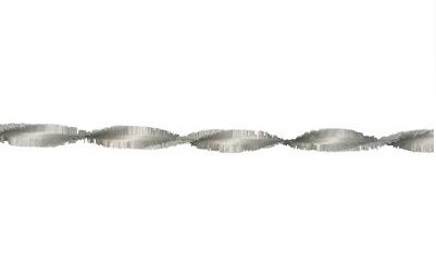 Crepe slinger zilver 6 meter