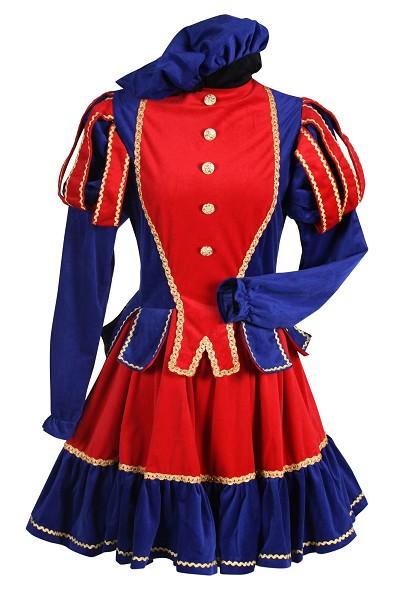 Dames Pietenpak Murcia rood/blauw - Small