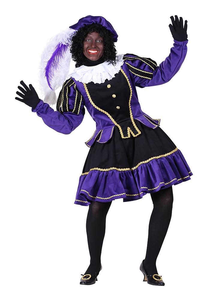 Dames Pietenpak Murcia zwart/paars - xxl
