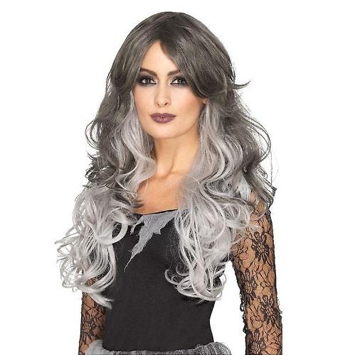 Deluxe Gothic bride pruik grijs