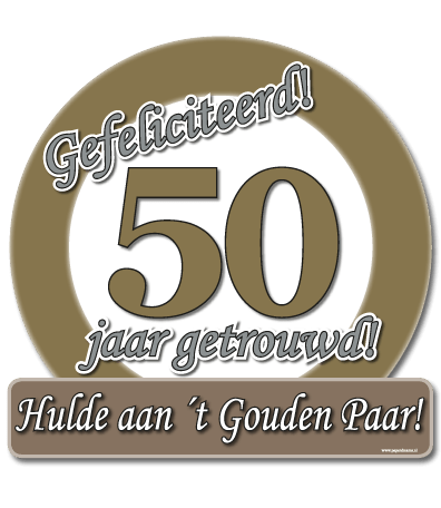 Deurbord 50 jarig jubileum