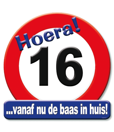Deurbord verkeersbord 16