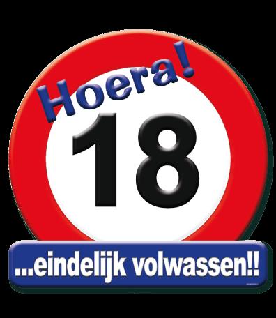 Deurbord verkeersbord 18