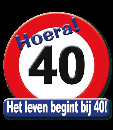 Deurbord verkeersbord 40