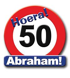 Deurbord verkeersbord 50 Abraham