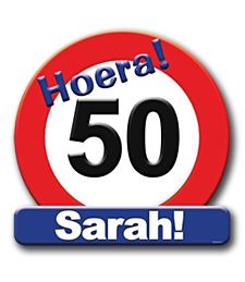 Deurbord verkeersbord 50 Sarah