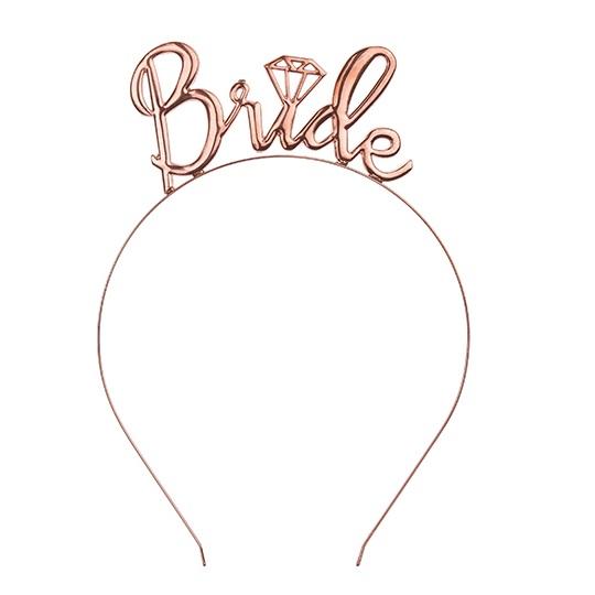Diadeem bride rosé goud