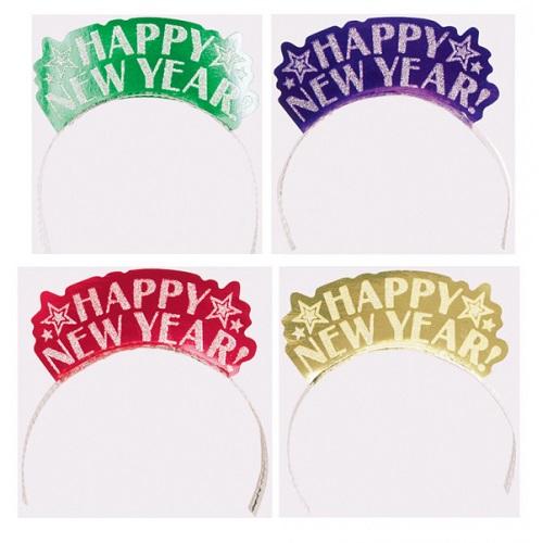 Diadeem Happy new Year assorti