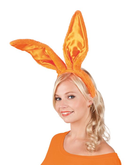 Diadeem oranje bunny ears