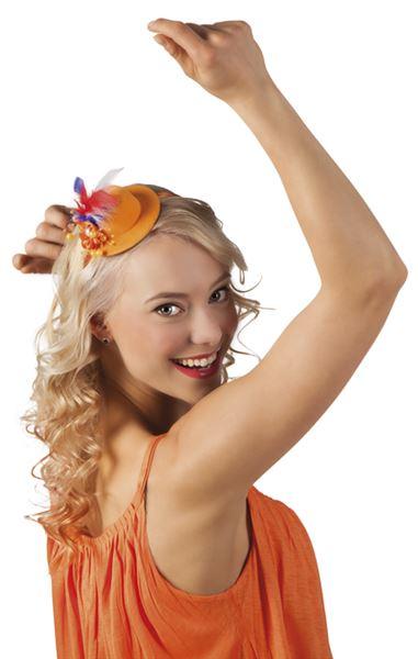 Diadeem oranje Pearlette