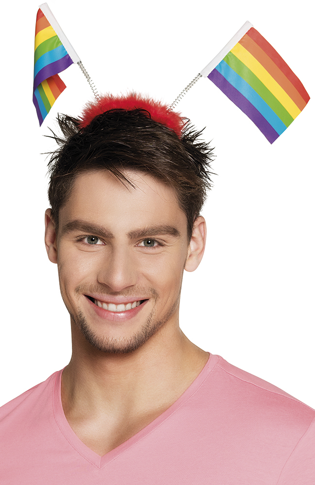 Diadeem regenboogvlag