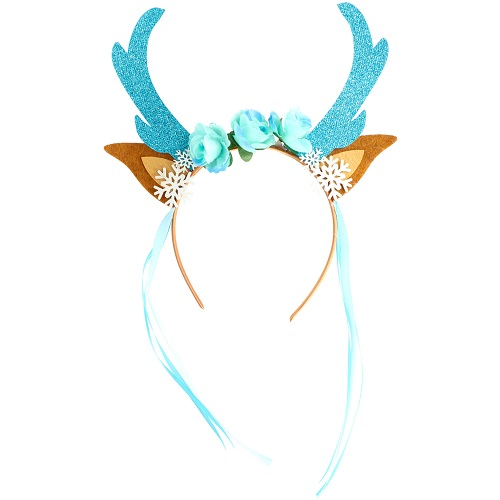 Diadeem rendier ijsblauw