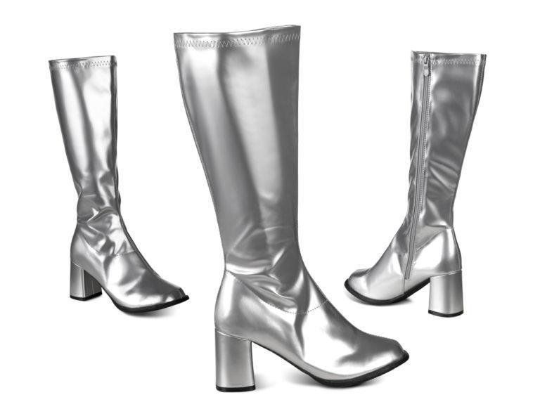 Disco laarzen retro zilver - 41
