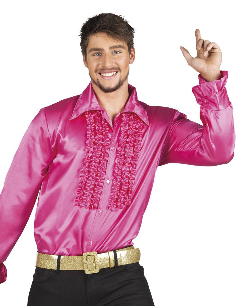 Disco ruche blouse pink
