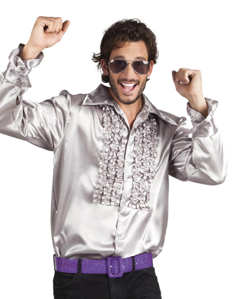 Disco ruche blouse zilver-XXL