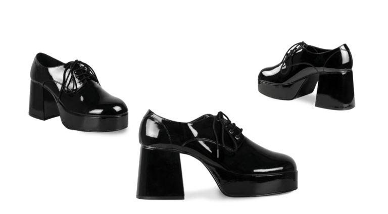 Disco schoenen heren zwart lak - 41