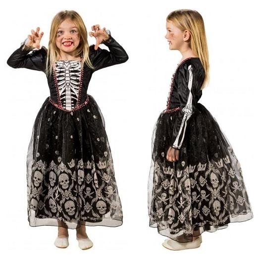 Doodskop jurk luxe kind - 164