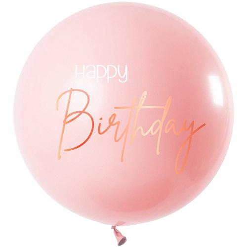 Elegant lush blush ballon happy birthday 80cm