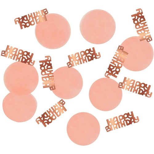 Elegant lush blush confetti happy birthday 25gr