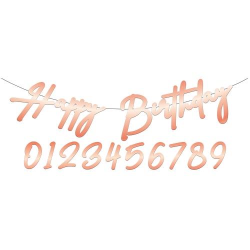Elegant lush blush letterslinger happy birthday 1m