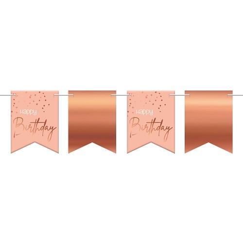 Elegant lush blush vlaggenlijn happy birthday 6m