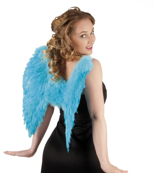 Engelenvleugels turquoise 50x50