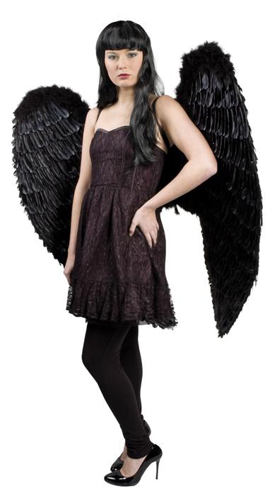 Engelenvleugels zwart 120 x 120cm