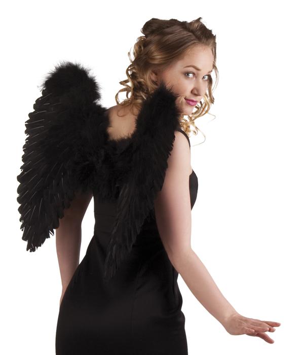 Engelenvleugels zwart 50x50